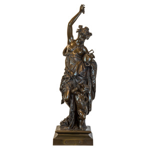 Fine Quality Patinated Bronze Sculpture by Albert Carrier-Belleuse