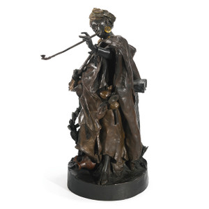 A fine Austrian patinated and gilt bronze sculpture by Arthur Strasser