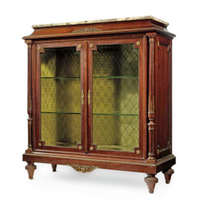 A fine French Meuble Vitrine attributed to François Linke