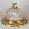 gilt bronze and rock crystal pearl shape table lamps