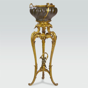 A Very Fine Gilt Bronze and Patinated Copper Jardiniere