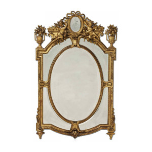 A Fine Late 19th Century Louis XV Style Giltwood Mirror