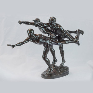 "A fine patinated bronze figural group sculpture entitled ""Au But"" (The Finishing Line)"