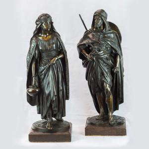 A Fine Pair of Orientalist Bronzes by Jean Jules Salmson