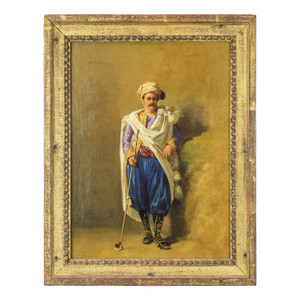 A Fine Oil Painting of a Golfer by Charles Bombled