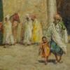 Orientalist Painting Depicting an Islamic Market