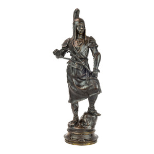 A Fine Patinated Bronze Sculpture of a Manchu Tartar by Barye