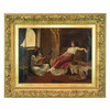 Painting of a Lounging Odalisque in a Harem