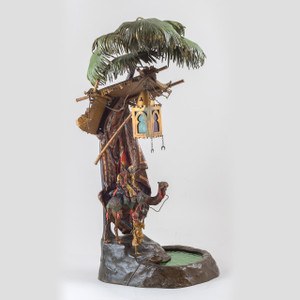 A Fine Austrian Polychrome Cold-Painted Bronze Table Lamp by Franz Bergman