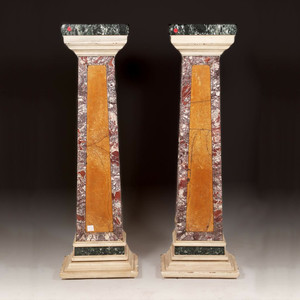 Pair of Rectangular Marble Pedestals