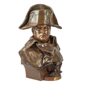 A Fine Patinated Bronze Bust of Napoleon Bonaparte by Renzo Colombo