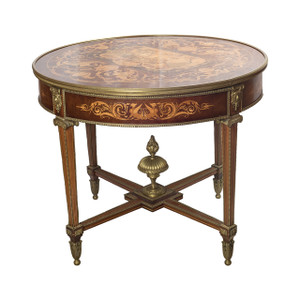 A Fabulous Neo-classical Ormolu-mounted Parquetry and Satinwood Marquetry Center Table