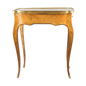 French Marquetry Kingwood Lacquered Rectangular Table