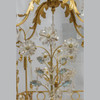 Gilt-Metal and Rock Crystal Cage-Formed Eight-Light Chandelier