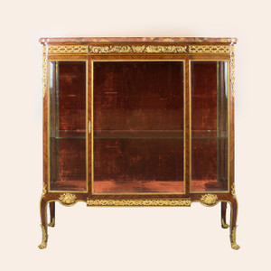 Transitional Style Ormolu-Mounted Mahogany Vitrine