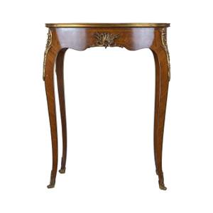 A Fine Elegant Louis XVI-Style Kingwood Kidney-Shaped Side Table