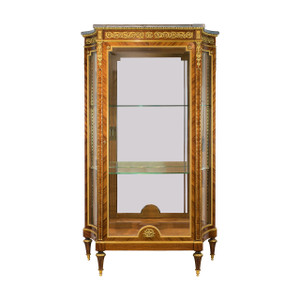 A Very Fine Quality French Marble-top Vitrine Attributed to François Linke