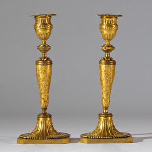 Gilt Bronze Candle Holder by Alph Giroux Paris