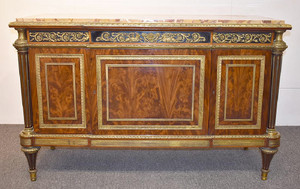 A Fine Louis XVI-style Mahogany Marble-top Commode