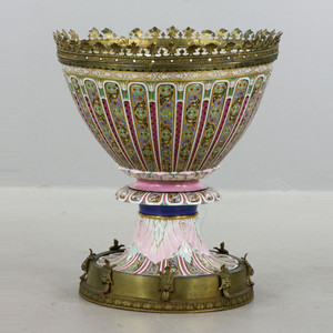 A Rare 19th Century French Monumental Porcelain Urn
