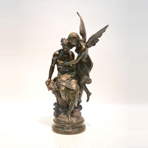 A Monumental Fine Quality Bronze Sculpture Entitled 'Le Rêve du Poète' by Mathurin Moreau
