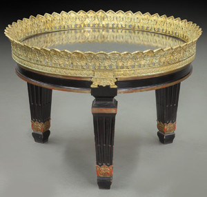 Louis Philippe Style Gilt-Bronze Mirrored Coffee Table