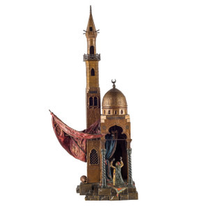 A Fine Quality Austrian Cold-Painted Bronze a mosque by Franz Bergman