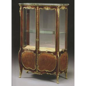 A French Ormolu-Mounted Mahogany and Marquetry Vitrine in the manner of Joseph-Emmanuel Zwiener