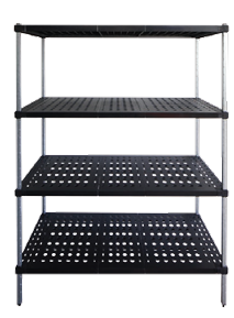 Starter bay units of Mantova Real Tuff coldroom shelves can be bought online in Coldroom Shelving Brisbane.