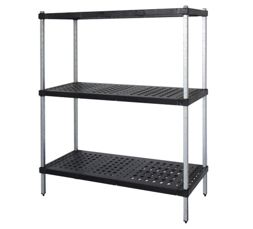 3-tier Mantova Real Tuff coldroom shelves can be bought online in Coldroom Shelving Brisbane.