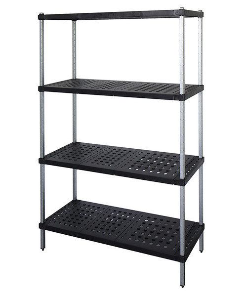 4-tier Mantova Real Tuff coldroom shelves can be bought online in Coldroom Shelving Brisbane.