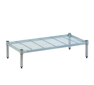 Single tier Mantova wire shelves can be bought online in Coldroom Shelving Brisbane.