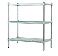 3-tier Mantova wire shelves can be bought online in Coldroom Shelving Brisbane.