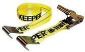"""KEEPER 2""""X27' RATCHET TIE DOWN10000 LBS FLAT HOOK"""
