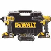 DEWALT 20V MAX LI-ION COMPACT DRILL & IMPACT COMBO KIT