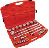 "CRESCENT 21 PIECE 3/4"" DRIVE STANDARD MECHANICS TOOLS SET"