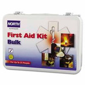 NORTH BY HONEYWELL 25 PERSON BULK FIRST AIDKIT METAL CASE
