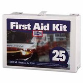 PAC-KIT 25 PERSON STEEL CONTRACTOR'S FIRST AID KIT