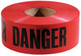 "EMPIRE LEVEL 3""X 1000' RED WITH BLACKDANGER TAPE"