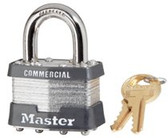 MASTER LOCK 4 PIN TUMBLER SAFETY PADLOCK KEYED DIFFERENT