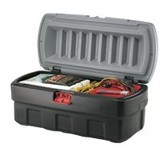 RUBBERMAID COMMERCIAL 48-GALLON BLACK ACTION PACKER CARGO BOX