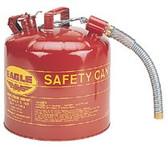 """EAGLE MFG 5 GAL 12"""" FLEX SPOUT7/8"""" OD SAFETY CAN"""