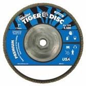 """WEILER 7"""" TIGER ABRASIVE FLAP DISC 80-GRIT 5/8"""