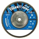 "WEILER 7"" TIGER DIS ABR. FLAP DISC 60 GRIT 5/8"