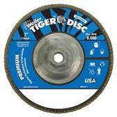 """WEILER 7"""" TIGER DISC ABRASIVE FLAP DISC-36Z-5/8""""-11A.H."""