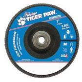 "WEILER 7"" TIGER PAW ABRASIVE FLAP DISC- FLAT-40Z- 5/8"""