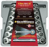 GEARWRENCH 8PC FRACTIONAL RATCHETING WRENCH SET