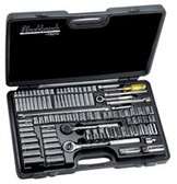BLACKHAWK 99 PIECE SOCKET SET 1/4-3/8-1/2 DR. SAE/METRIC