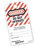 MASTER LOCK DO NOT OPERATE SAFETY TAGS W/GROMM.&TIES 12/BAG