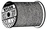 """ORION ROPEWORKS 1/4"""" X 1000' SOLID BRAIDNYLON"""
